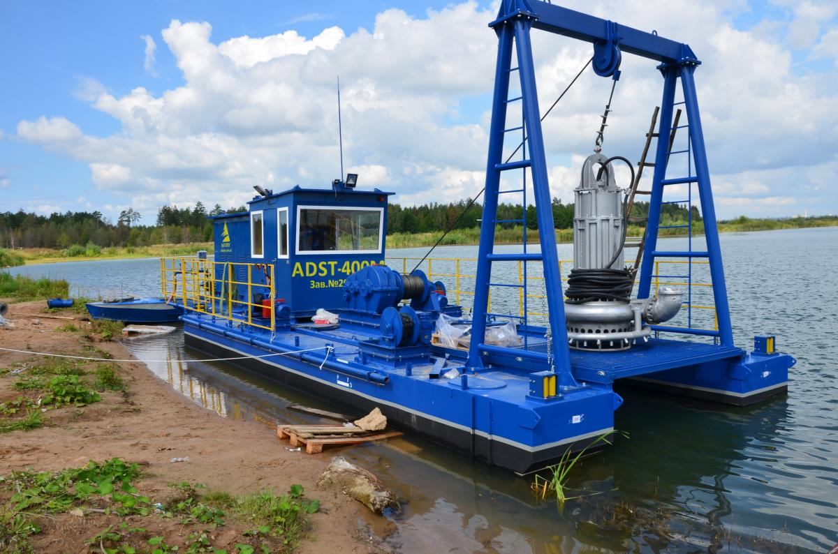 Dredger ADST-400M, Gazosilikatstroy Private Company, 2016, Mohilev, the Republic of Belarus.
