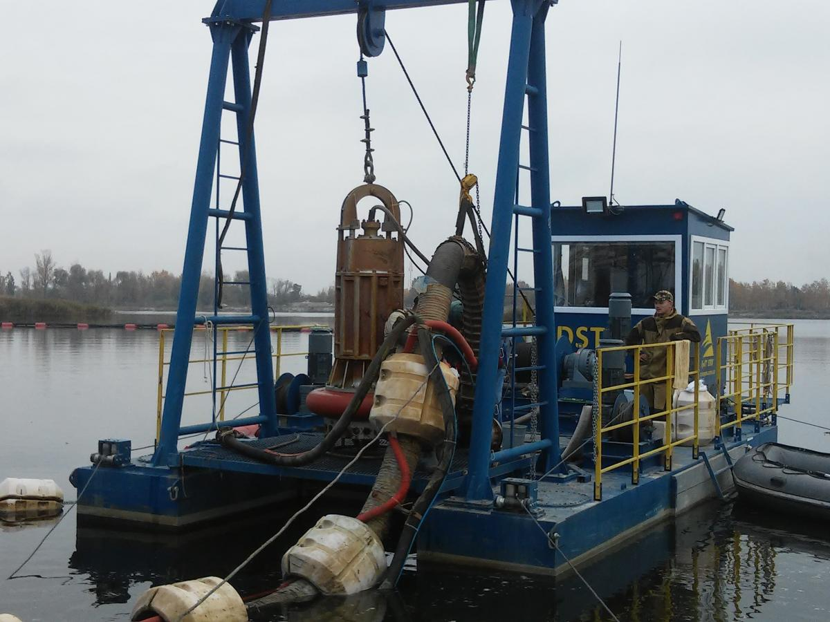 Dredger ADST-400E, Constr.zone-158, subsidiary of Construction Group №8, 2018, Brest, the Republic of Belarus