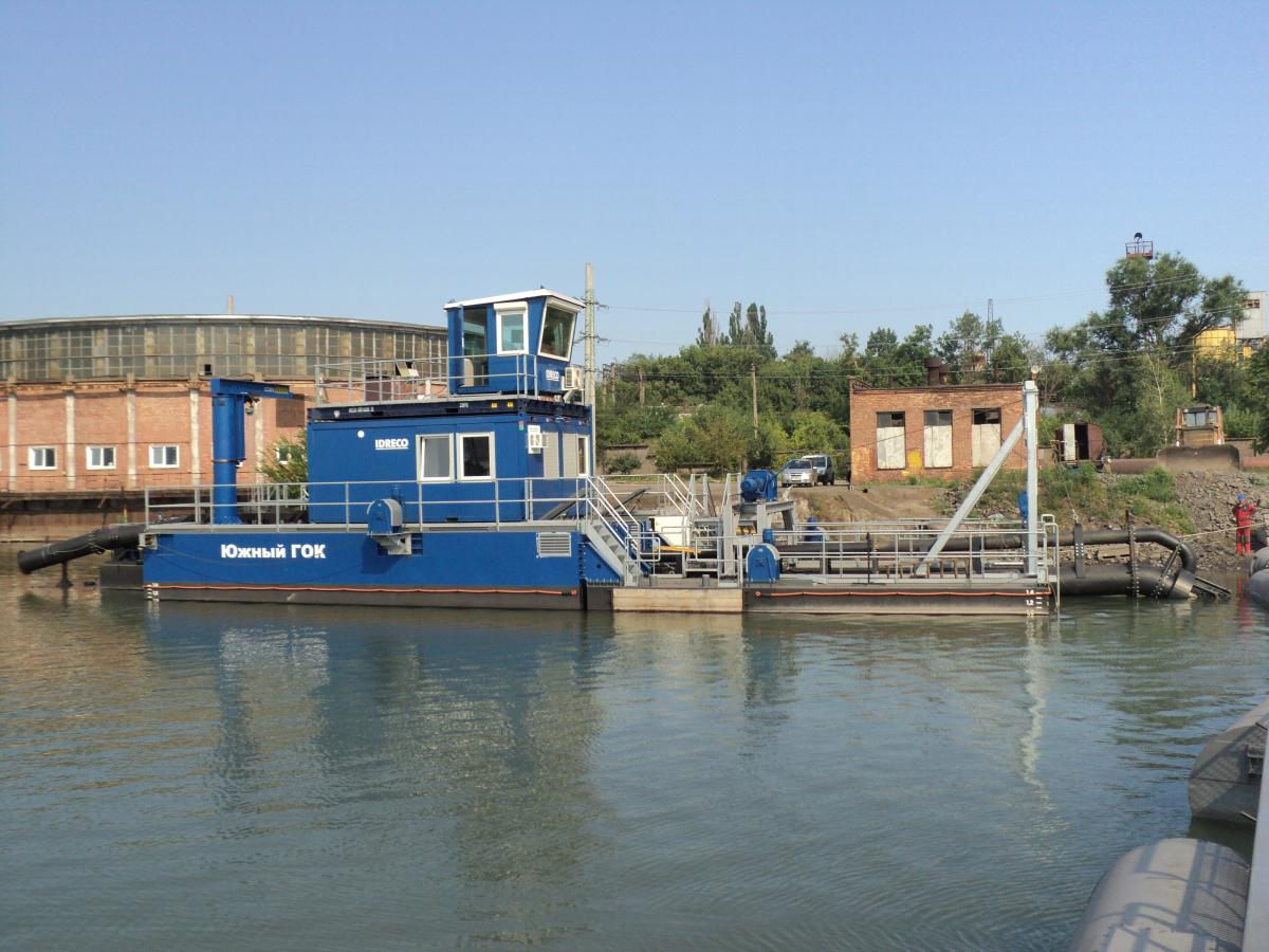 Dredger produced by Idreco ISD 550-E-12, Southern Mining Factory PJSC, Kryvyi Rig, Ukraine