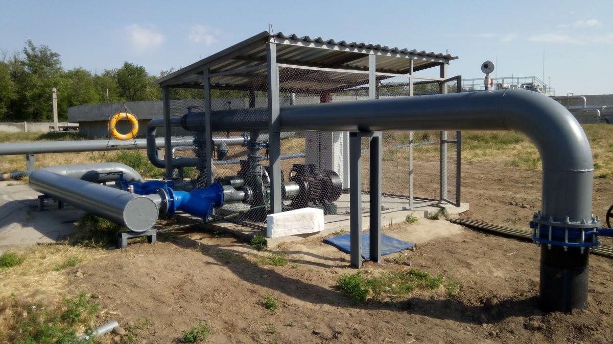 Pumping station for irrigation, IN-AGRO company, 2015, Gola Prystan, Kherson region, Ukraine.